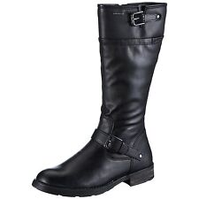 LADIES WONENS  GEOX SOFIA BLACK LEATHER WATER PROOF LONG BOOT