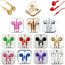 New 3.5mm Earphone Headset For Cell Laptop PC MP3 MP4 Stereo With Mic Remote