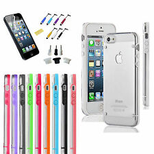 iPhone 5 5S Ultra Thin Transparent Crystal Clear Hard TPU Case Cover Anti Dust