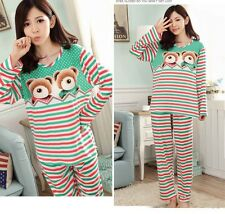 New Brand Confortable Long Sleeve Pajamas Fashion Womens Sweet hearts
