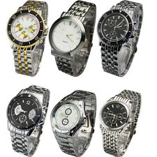 Stainless Steel Design Luxury New Mens Quartz Wrist Watch Watches