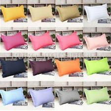 45 X 75cm Rectangle Solid Color Pillow Case Cotton Cover Striped Pillowcase Bed