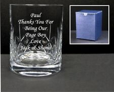 Personalised Crystal Whisky Glass Engraved 40th 50th, 60th Birthday In Blue Box