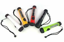 Waterproof Solar Powered LED Flashlight Rechargeable Torch Lamp+Backup battery
