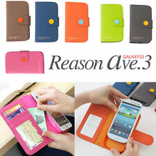 Samsung Galaxy SIII S3 i9300 Wallet Phone Case Cover Korean Design Gift Sale