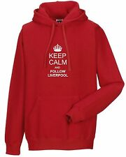 KEEP CALM AND FOLLOW LIVERPOOL FAN HOODY ALL SIZES AVAILABLE