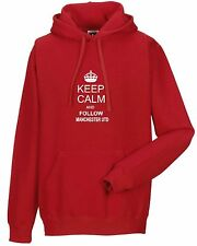 KEEP CALM AND FOLLOW MANCHESTER UTD FAN HOODY ALL SIZES AVAILABLE