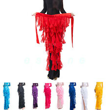 12 Colors Belly Dance Waistband Costume Hip Scarf Belt Wave Tassel Waist Chain