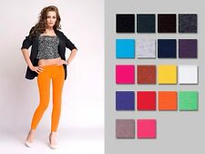 Womens Low Waist Rise Cotton Full Ankle Length Leggings Sizes 8/10/12/14
