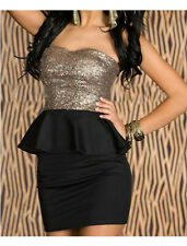 Fashion Sexy Sequins Gray & Balck Lady Dress NEW Wrapped Chest  Halter Dress