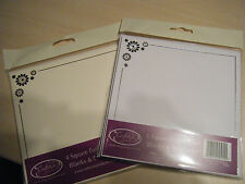 4 Luxury Foiled Square Card Blanks - ideal Wedding / birthdays / valentine etc