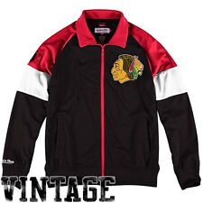 Chicago Blackhawks Behind The Net Full Zip Track Jacket Mitchell & Ness Official
