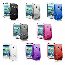TPU Silicone Case Cover Skin For Samsung Galaxy S Duos GT-S7562 + LCD Film