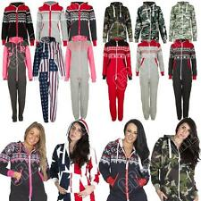 Womens Mens Adult Onesie All In One Fleece Jumpsuit Aztec Camo Camouflage USA