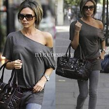 Women Casual Celeb Style off Shoulder Batwing Sleeve Blouse Top T-Shirt bty111