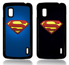 SUPERMAN  LG GOOGLE NEXUS  4 COVER CASE CUSTODIA LOGO RETRO COMIC BATMAN 1