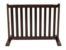 "Dynamic Accents 20"" Kensington Sliding Hardwood Dog Pet Gate Barrier Mahogany"
