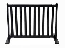 "Dynamic Accents 20"" Kensington Sliding Hardwood Dog Pet Gate Barrier Black"