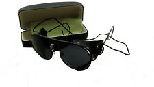 Round AVIATOR LEATHER SUNGLASSES/ WILLSON 1920 WITH FREE CASE!!