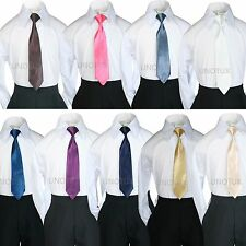 Baby Kids Teen 9 Colors SATIN LONG NECK TIE for BOY'S Suit & Tuxedo Size S-20