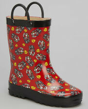 LILLY OF NY Rubber Rainboots - Fire Truck Print - Toddler+Youth **SALE**
