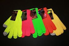 *5 COLORS* NEON TOUCH Texting GLOVES - Works on ALL Phones Tablets & GPS SCREENS