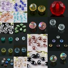 Faceted Crystal Glass Rhinestone Loose Spacer Bead Charms Jewelry Findings Craft