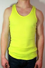 *MANY COLORS* NEON Unisex CUSTOM MADE/DYED American Apparel RIB TANK TOP 3408