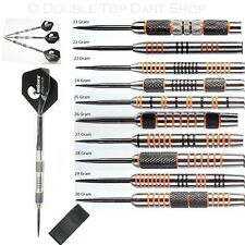 Nodor Tiger Amber + Black 90% Tungsten Darts + Unicorn Flights + Stems + Wallet