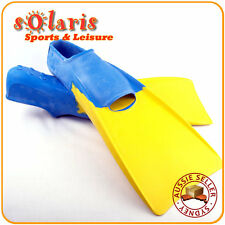Rubber Floating Fins Full Foot Adult Sizes Flippers Unisex for Pool or Snorkel