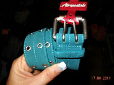 NWT Aeropostale Double Grommet Suede Leather Belt