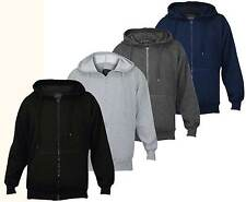 Mens Plain Fleece Zip Up Hoodie Sweatshirt Hooded Zipper Top Sports Jumper