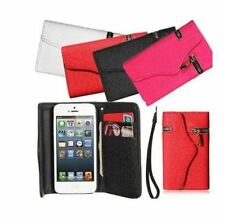 Unique ZIPPER PU Leather Wallet Flip Hard Case for iPhone 5  5s