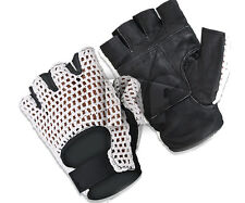 MESH LEATHER GYM GLOVES WEIGHT TRAINING POWER LIFTING CYCLING SPORTS WHEEL CHAIR