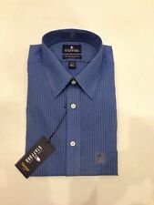 Stafford Performance Super Shirt FR Blue Pencil Stripe Color 60% Cotton Fitted