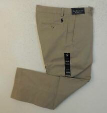 Polo Ralph Lauren Pony Twill Jeans Chino Flat Preston Khaki Pants 29 30 31 35