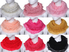 9Colors Charms Women's Weave Crochet Winter Warm Knit Noodles Collar Scarf Wrap