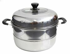 Stainless Steel 2 Tier Steamer Steam Pot Cookware. Available. in 4 Sizes