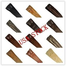 "USA STOCK !15""remy human hair clip In Extensions 7pcs & 70g ,3-5 days delivery!"