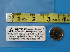 Plastic Poly Bag Printed Suffocation Warning Labels Stickers Self Adhesive Strip