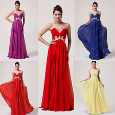 2014 Luxury Grace Karin Strapless Long Chiffon Ballgown Evening Prom Party Dress