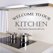 WELCOME TO OUR HOME KITCHEN wall sticker heart family home quote vinyl decal