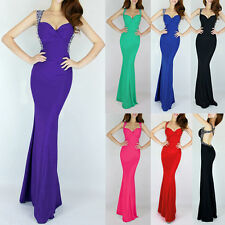 V Neck Sexy Charming Mermaid Formal Prom Cocktail Evening Ball Gown Long Dress