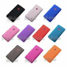 Soft Gel Matte Silicone Cover Skin Case For Nokia Lumia 520 +Screen Protector