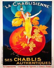 La Chablisienne Drink Food VINTAGE ADVERTISING ENAMEL METAL TIN SIGN WALL PLAQUE