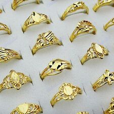 Hot Sale 20pcs Mix Style Womens Vintage Top Gold P Rings Wholesale Jewelry Lots