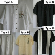 New Palm cocktail Embroidered Sewn Hawaiian Resort wear Aloha quality Shirts