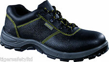 Delta Plus Panoply Goult S1P Ladies Black Leather Steel Toe Cap Safety Shoes PPE