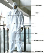 Disposable Coveralls Overalls Boilersuit Hood Painters Protective Suit 2 5 10 20