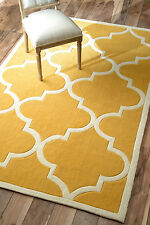 Modern Contemporary Transitional Hand Tufted Area Rug Carpet Polyester